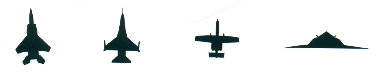Vinyl Military Aircraft Decals for your car, windows or helmets